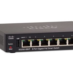 CISCO SG250-08HP-K9-EU 8-Port Gigabit PoE Smart Switch