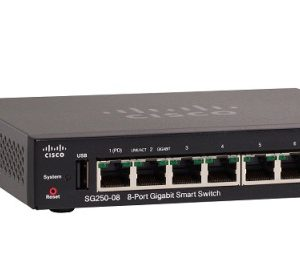 CISCO SG250-08-K9-EU 8-Port Gigabit Smart Switch